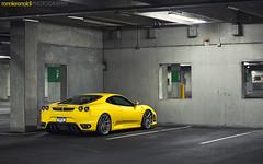 RR430_2July2014_08 (ronnierenaldi.com) Tags: auto horse cars car yellow photography photoshoot wheels automotive ferrari exotic giallo modified modena scuderia supercar modded exotics f430 prancing 430 scud adv1 adv1wheels rr430