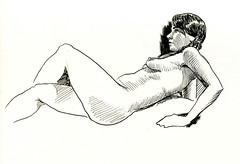 life drawing at Redline (paul heaston) Tags: art notebook nude artwork drawing journal sketchbook figuredrawing lifedrawing stillmanandbirn