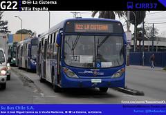 G22 | EIM La Cisterna - Villa España (Mr. Mobitec) Tags: chile santiago bus buses publictransport transporte santiagodechile transantiago intermodal transportepúblico lacisterna subus estaciónintermodal zonag troncal2 subuschile estaciónlacisterna metrolacisterna