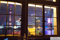 Looking out at the Bund (thewanderingeater) Tags: china bar shanghai cocktails thebund mglamourbar