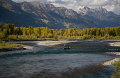 the anglers- (laura's Point of View) Tags: autumn mountains fall nature water river fishing fishermen snakeriver aspens wyoming trout tetons anglers cutthroattrout lauraspointofview lauraspov