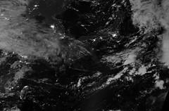 East Asia 2 (sjrankin) Tags: china panorama japan night clouds ir edited korea nasa pacificocean infrared southkorea northkorea eastasia seaofjapan eastchinasea koreanpeninsula viirs suominpp daynightband 13september2014 11september2014