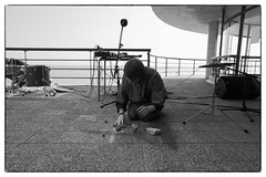 Part Wild Horses Mane on Both Sides - Dear Serge/Cafe Oto @ De La Warr Pavilion, Bexhill-on-sea, 14th September 2014 (fabiolug) Tags: leica blackandwhite bw music monochrome drums blackwhite concert experimental terrace stones live gig wide livemusic performance objects rangefinder wideangle flute electronics installation sound microphone monochrom eastsussex biancoenero performances avantgarde installations superwideangle percussions 21mm bexhill bexhillonsea superwide leica21mm delawarrpavilion leicam kellyjaynejones pascalnichols cafeoto partwildhorsesmaneonbothsides superelmar leicasuperelmar21mmf34asph superelmar21mm leicasuperelmar dearserge mmonochrom leicammonochrom leicamonochrom superelmar21mmf34asph leicasuperelmar21mm dialogueerosion