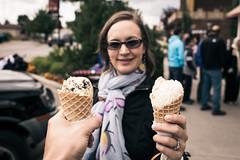 Yay Ice Cream (Daveography.ca) Tags: canada dessert holding alberta icecream sharing jenn treat cochrane icecreamcone icecreamcones mackays
