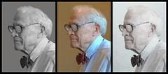 Retired professor (readerwalker) Tags: portraits triptychs readerwalker iphonephotos