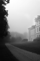 Rosersbergs Castle by daniel.gogberg - Rosersbergs castle outside of Stockholm in morning mist. Converted with Silver Efex pro