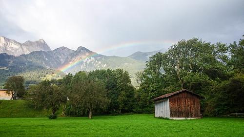 Rainbow near Maienfeld GR