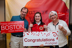 Corps Graduation - City Year Boston 2015 (cityyear) Tags: city red signs boston thanks happy parents year joy talk bubbles confetti appreciation step speaker congratulations messages celebrate props repeat cityyear cityyearboston