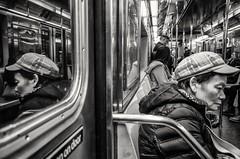 Subway Scene (Roy Savoy) Tags: bw blackandwhite bnw streetphotography street nyc city roysavoy newyorkcity newyork blacknwhite streets streettog streetogs ricoh gr2 candid flickr explore candids photography streetphotographer 28mm nycstreetphotography gothamist tog mono monochrome flickriver snap digital monochromatic blancoynegro people