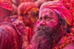 Blast of Colours-16 (Padmanabhan Rangarajan) Tags: holi nandgaon lathmar india festival colours hinduism temple celebrations