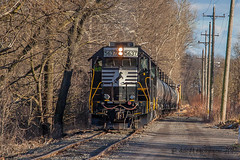 NS EMD GP38-2 #5637 @ Morrisville, PA (Darryl Rule's Photography) Tags: 2017 aestaley acela bridge buckscounty cpdq csao clouds cloudy conrailsharedassets dq dairyqueen delmoorave diesel diesels emd gp382 local march morrisville necorridor ns norfolksouthern northeastcorridor oldline overunder pa prr pennsy pennsylvania pennsylvaniarailroad railroad railroads staley staleylocal streetrunning sun tankcar tankcartrain tankcars tankers train trains winter ypmor1