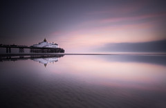 New Beginnings (EXPLORE 23.02.2017) (Fern Blacker) Tags: eastbourne eastbournepier eastsussex pier coast longexposure leefilters big stopper sunrise sea beach seaside reflections clouds