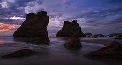 Dramatic Sunset at Bandon Beach, OR (Sveta Imnadze) Tags: nature landscape seascape sunset pacificocean bandon oregon pacificnorthwest rocks clouds