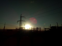Origin of energy (David's viewfinder!!) Tags: electric sunset sun energy huawei cellphone mejillones chile