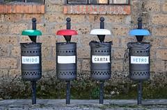 (Fabio Polimadei) Tags: trash recycling baskets outdoor sorano italy irony