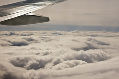 Cloudscape from Above 4 (LongInt57) Tags: blue sky white canada clouds grey flying wings aircraft airplanes gray jet