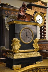"FRENCH SHELF CLOCK, C. 1830.  RUNS. • <a style=""font-size:0.8em;"" href=""http://www.flickr.com/photos/51721355@N02/14275141267/"" target=""_blank"">View on Flickr</a>"