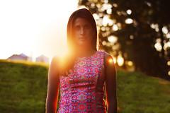 blah (Jay Bucci) Tags: road sunset portrait orange green photography golden bokeh hannah hour much hannah2