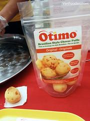 Otimo Brazilian Style Cheese Puffs (VanFoodies) Tags: vancouver yogurt liberte foodshow eatvancouver bcplacestadium oikos vikramvij lynncrawford foodnetworkcanada pureleaf nedbell vijvikram pulocuisine pureinfusedmaplesyrup deebeesteapop