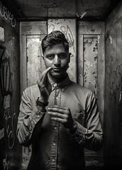 Vasudevan Panicker (Pine Ear) Tags: street new york nyc portrait bw musician music manhattan olympus dslr composer e500 silverefex