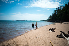 hidden beach (Colin Robison) Tags: friends summer sky people sun sunlight lake beach nature water beautiful up mi outdoors friend midwest natural outdoor hiking michigan lakes trails sunny hike greatlakes trail beaches waters summertime upperpeninsula peninsula lakesuperior marquette yooper 2014 marquettemi yuper exploremichigan puremichigan colinrobison