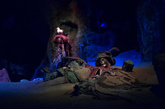 Beneath The Waterfall - EXPLORE (Natalie Bell) Tags: dead skeleton skull disneyland pirates cave nos piratesofthecaribbean neworleanssqu