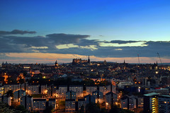 Edinburgh Sunset (Wide Angle) (Colin Myers Photography) Tags: sunset colin clouds photography lights scotland warm edinburgh skies fife dusk trails scottish holy holyrood leith rood myers edinburghsunset scotlandsunset edinburghphotography colinmyersphotography edinburghatmospheric