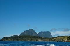 View to Mt Lidgbird & Mt Gower over Middle Beach - Lord Howe Island Circumnavigation (Black Diamond Images) Tags: mountains island boat paradise australia cliffs nsw boattrip circumnavigation lordhoweisland middlebeach worldheritagearea mtgower mtlidgbird thelastparadise circleislandboattour