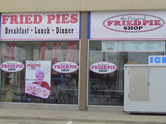Happy Fried Pie Fry-day! (libraryrivergirl) Tags: windows ice ads pie storefront friedpie