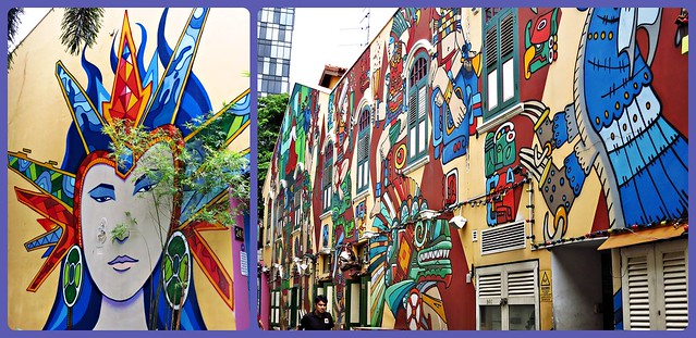 wall murals at bali lane & haji lane