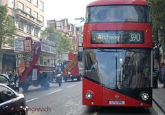 Year of the Bus Cavalcade : Oxfors Street contrasts. 1914-2014 (Longreach - Jonathan McDonnell) Tags: street bus for your englandlondon aec metroline dsc0201 london transport transport mayor aecbtype ltz1105 tflyear cavalcaderegent streetlondon associationlondon londonlove busyear busregent