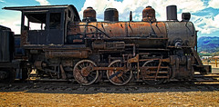 Rusty Puffer Belly (arbyreed) Tags: old railroad train rusty rusted disused locomotive oldtechnology hebervalleyrailroad arbyreed oldrustysteamlocomotive