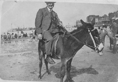 Portrait of a Gentleman on a Donkey (Bury Gardener) Tags: uk portrait england bw english vintage oldies