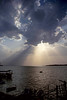 The Sunrays (Amal Mourya) Tags: camera sky sun lake water its clouds canon photography photo am view image amal creative rays bhopal 18135mm 60d mourya amalmourya itsam