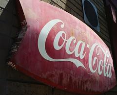 vintage Coke sign (kuronakko) Tags: old red classic 120 sign vintage mediumformat cola coke faded bronica cocacola 6x45 c41 bronicaetrsi sfbas fujifilm160s bronicazenzanonpe60mmf28lens