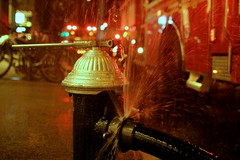 Leaking (rcollins42) Tags: nyc newyorkcity summer beauty hydrant canon fire photography rebel reid 24mm burst collins 2014 14l t2i rcollins42