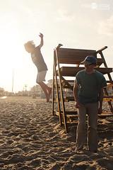 Jumping at Ocean Grove (lisaclarke) Tags: neil eamonn oceangrovenj oceangrove2014