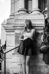 Mademoiselle - Basilique du Sacr Cur de Montmartre (el_mo) Tags: show girls bw woman white black paris girl live steps montmartre stepping mont pigalle martre labasiliquedusacrcurdemontmartre