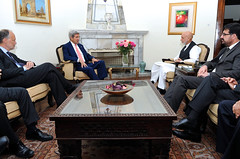 Secretary Kerry Meets With Afghan President Karzai About Country's Disputed Election (U.S. Department of State) Tags: afghanistan cunningham ambassador johnkerry kabul hamidkarzai