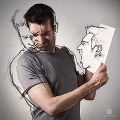 Angry Sketch (S.D.G Photographie) Tags: life portrait people selfportrait photoshop self sketch drawing mixedmedia sketching creative db dessin creation combine series concept conceptual sketches selfie croquis sdg crd esquisse