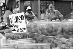 Portobello Road - DSC07123a (normko) Tags: road street people bw london fruit market strawberries stall portobello