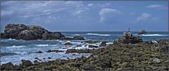 Panorama - phare du Four (jyleroy) Tags: ocean sea mer lighthouse france landscape lumix brittany europe bretagne breizh panasonic finistre ocan pharedufour porspoder fz200