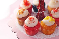 I fell in love with my Cupcake! (Miss.Dua'a) Tags: red food love colors photography muffins cupcakes baking yummy rainbow sweet happiness velvet sugar desserts cupcake quotes kawaii sweets                  instagram