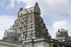Gopuram and vimana at Shri Venkateswara (Balaji) Temple (David Davies) Tags: hindu gopuram balajitemple vimana shrivenkateswara