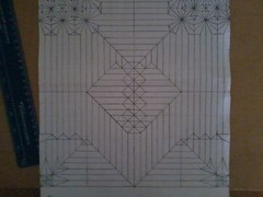 Two headed dragon crease pattern (l0lm4tt) Tags: two origami pattern dragon box crease headed pleating