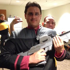 This is the last photo of one of our crew members before he was assimilated by the Borg. #SkySox #StarTrek night. #SFI #STARFLEET / on Instagram http://instagram.com/p/q8hbADMmhf/