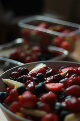 Summer Fruits Salad (D.I. Hammonds) Tags: summer food sun hot cold weather salad strawberry berry berries hand blackberry cut knife cook strawberries bowl ring blueberry pineapple mango bracelet raspberry pineapples peel raspberries blackberries blueberries prep prepare pinapple pinapples punnet