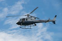 LAPD Fly-By (Meghan (Rambling On. . . )) Tags: ocean california vacation sun beach sunshine canon la chopper santamonica police helicopter santamonicapier lapd 70d
