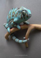 Kameleon Chameleon Turkis1 0714 (Skulpturliv) Tags: sculpture art animal ceramic chameleon stoneware kameleon turquise turkis kameleont chamleons cameleonte steingods skulpturliv dyreskulpturer