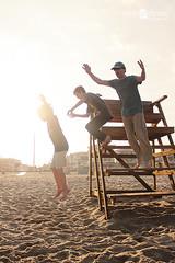 Jumping at Ocean Grove (lisaclarke) Tags: aidan neil eamonn oceangrovenj oceangrove2014